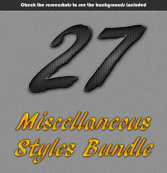 Miscellaneous Styles Bundle