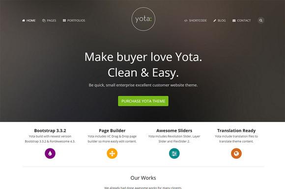 Yota Creative WordPress Theme