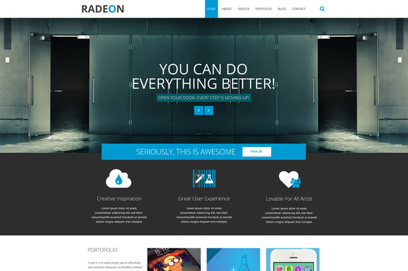 RADEON Multipurpose PSD Template