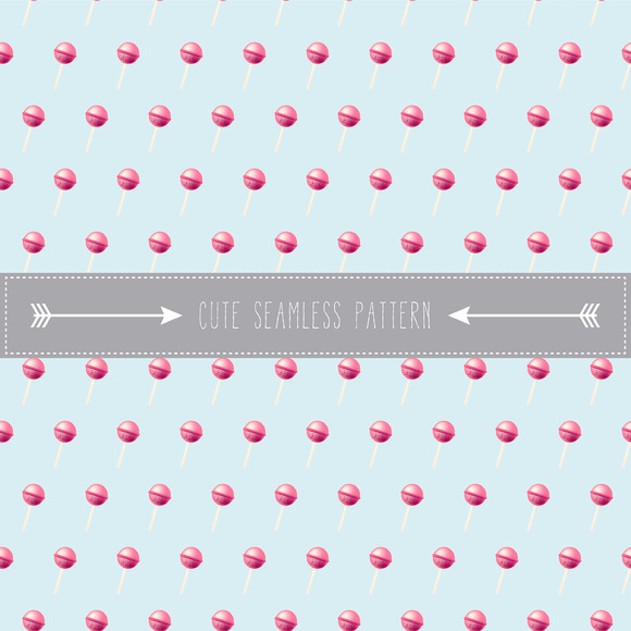 Cute Lolipop Seamless Pattern
