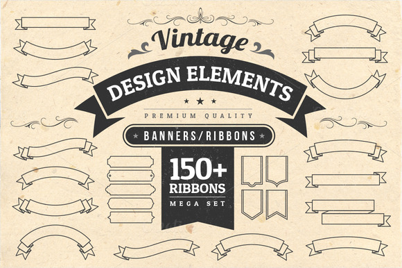 Vintage Design Elements Ribbons