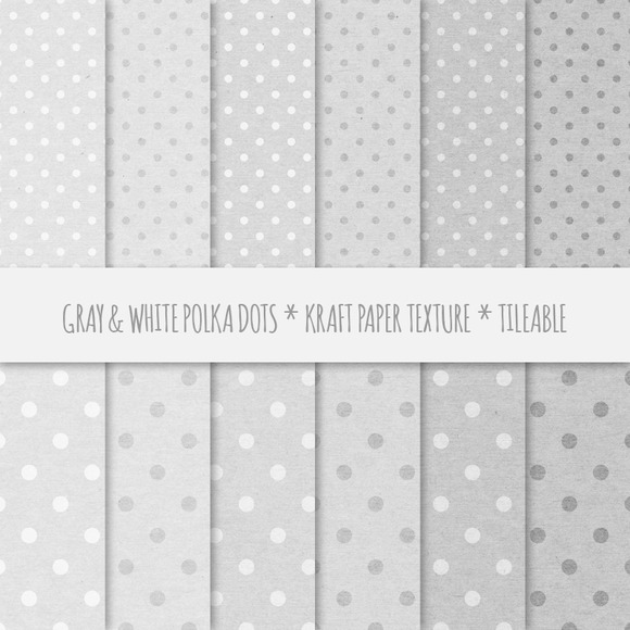 Gray Polka Dots Seamless Patterns