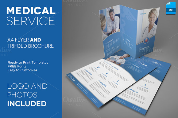 Medical Service A4 Trifold And Flyer