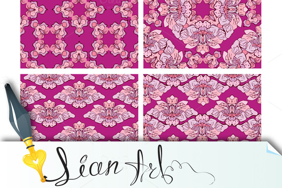 Ornaments Seamless Floral Patterns