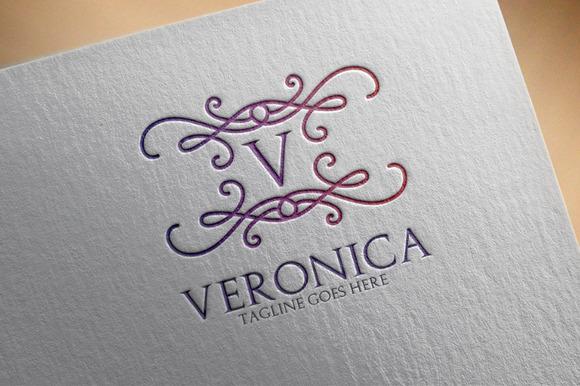 Veronica V Letter Logo
