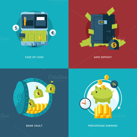 Finance And Money Icons Set