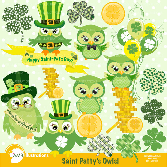 St Paddys Day Owls