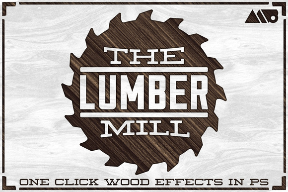 The Lumber Mill Photoshop Wood Kit
