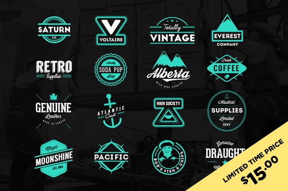 Retro Logos Badges