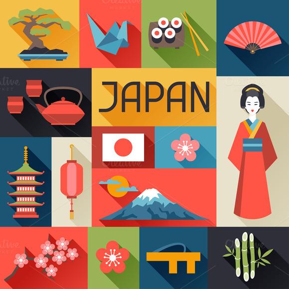 Japan Backgrounds Design