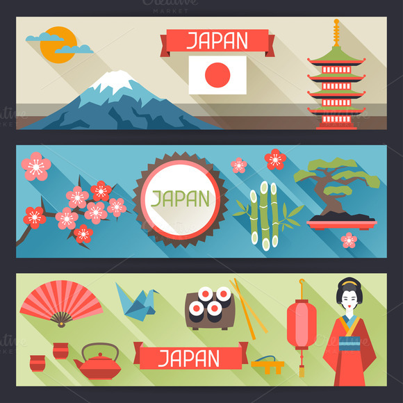 Japan Banners Design