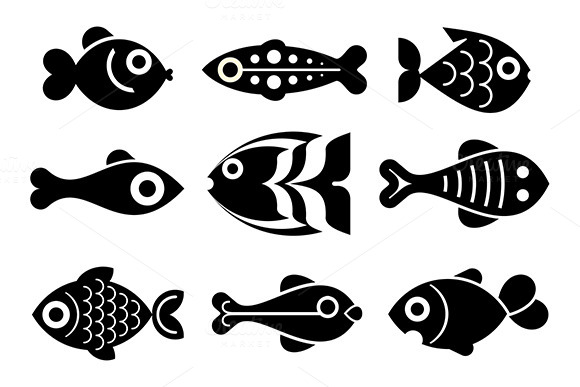 Fish Icon Set