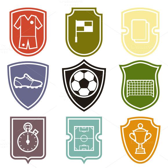 Set Of Soccer Labels