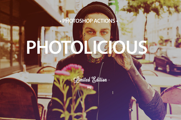 12 Photolicious Photoshop Actions
