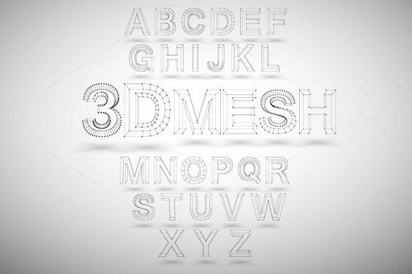 3D Mesh Font