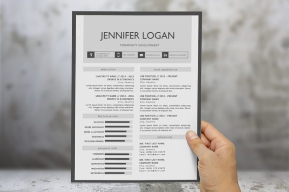 Modern Border Resume Template