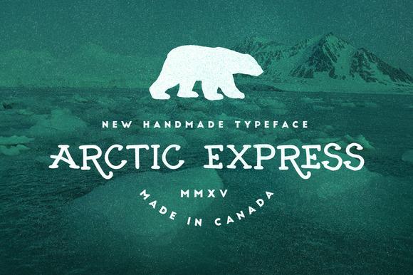 Arctic Express Display Font