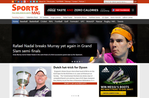 SportsMag Sports News WP Theme