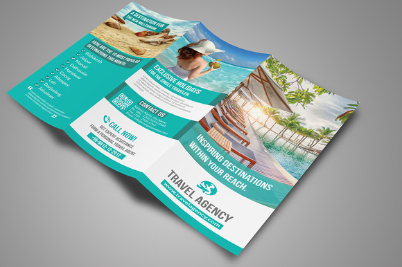 Travel agency brochure template psd free designtube for Travel brochures templates