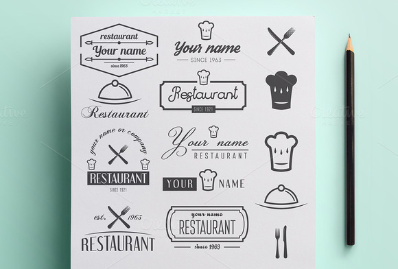 Set Of Logo For Restaurant