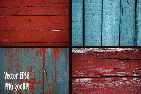 Vector Set Of Wooden Textures