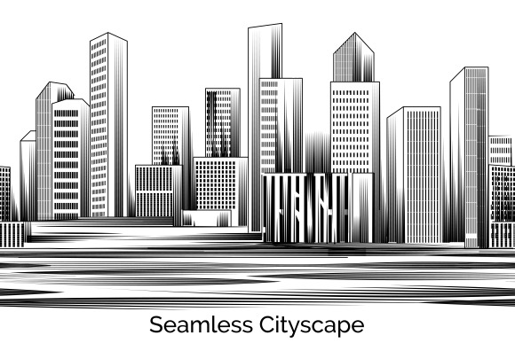 Seamless Cityscape Engraving