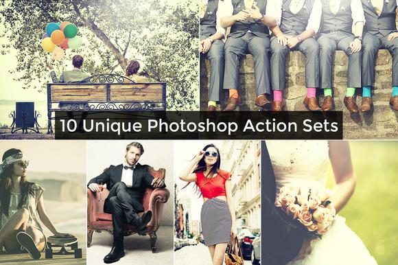 10 Unique Photoshop Action Sets