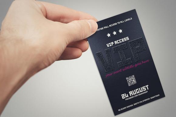 Elegant VIP PASS Card 2 Styles