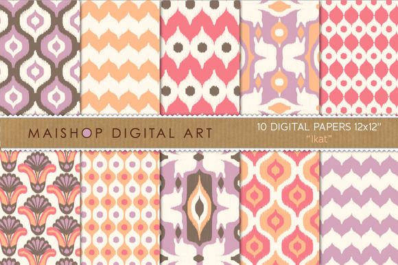 Digital Paper Ikat