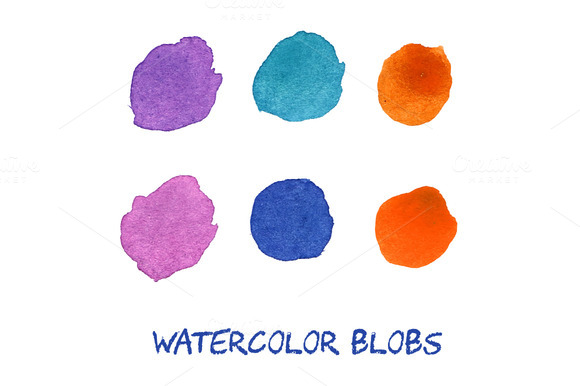 Vector Watercolor Blobs
