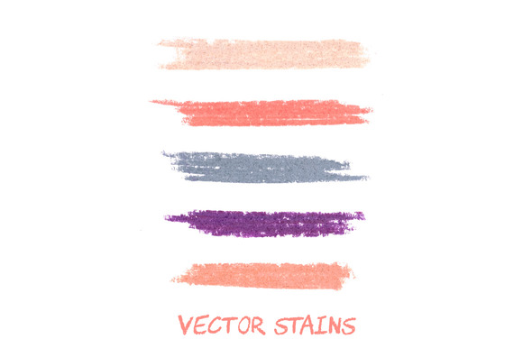 Vector Pastel Stains