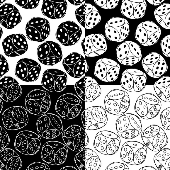 Seamless Patterns With Dices