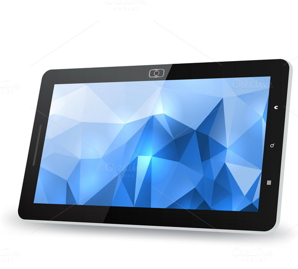Tablet PC With Abstract Background