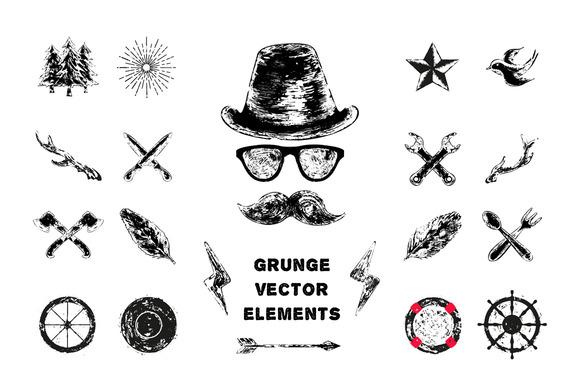 Grunge Logo Elements
