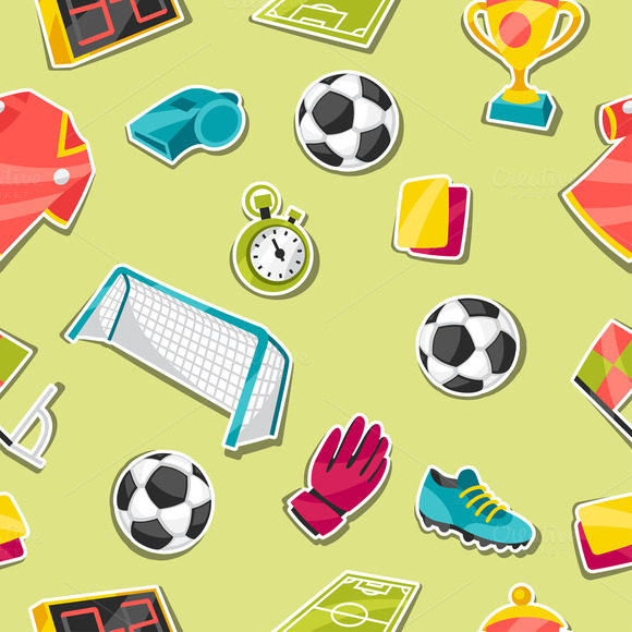 Patterns With Soccer Sticker