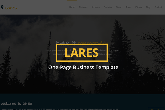 Lares One-Page Business Template