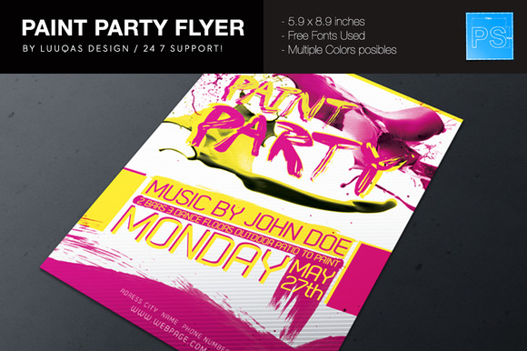 Paint Party Flyer Poster
