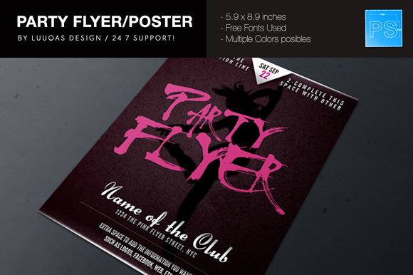 Party Flyer Poster