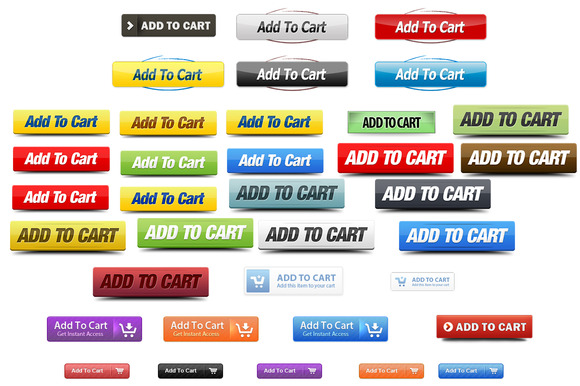 36 Add To Cart PNG Icons PSD Files