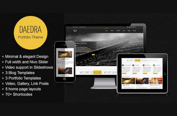 Daedra Responsive Portfolio Theme