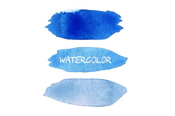 Blue Vector Watercolor Blobs