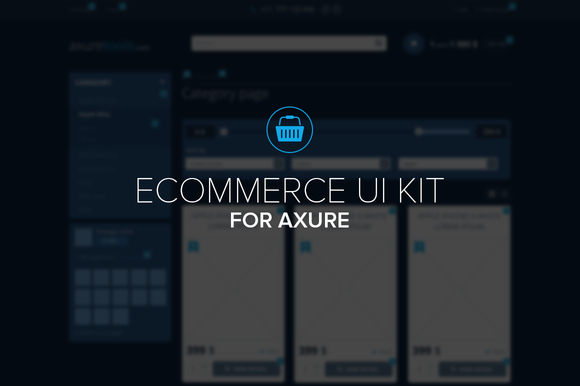 Ecommerce Template For Axure-UI Kit