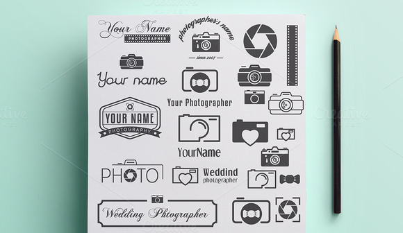 Collection Of Photographer Logo
