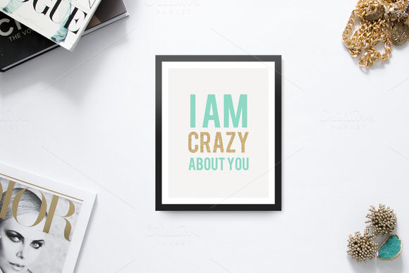 I Am Crazy About You Typography