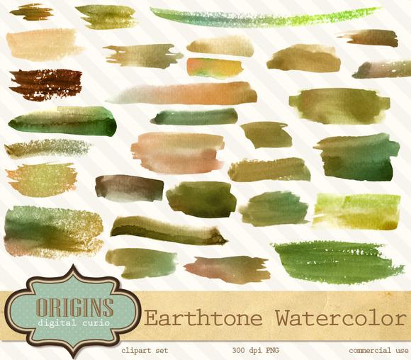 Watercolor Strokes Clipart