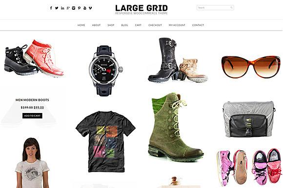 Large Grid Woocommerce Theme