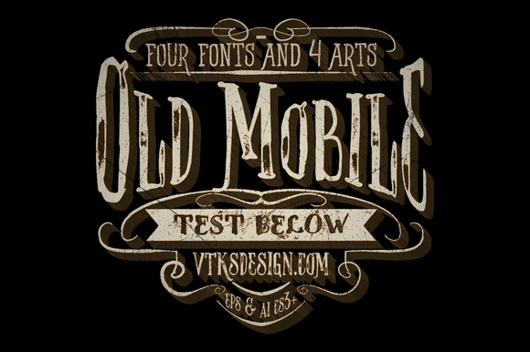 Old Mobile Pack Fonts