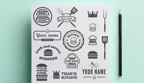 Collection Of Burgers Logo