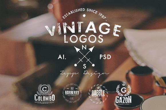 Vintage Logos Badges Set 4