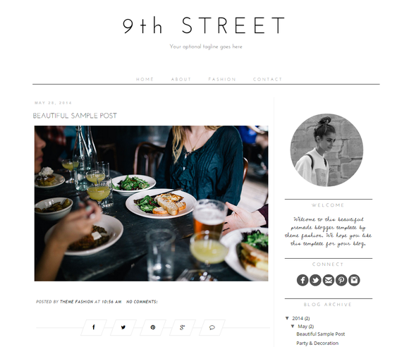 Blogger Template 9th Street